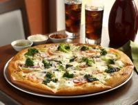 Пицца с курицей и цветной капустой