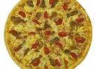 Пицца с грудкой и фасолью