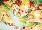 Пицца с картошкой и грибами