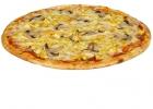 Пицца с грудкой и шампиньонами